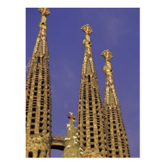 Europe, Spain, Barcelona Sagrada Familia Postcard