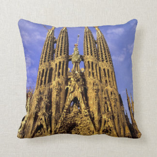 Europe, Spain, Barcelona, Sagrada Familia Throw Pillow