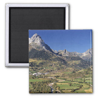 Europe, Spain, Sallent de Gallego. A small Square Magnet
