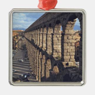Europe, Spain, Segovia. Late light casts shadows Metal Ornament