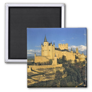 Europe, Spain, Segovia. The imposing Alcazar, Square Magnet