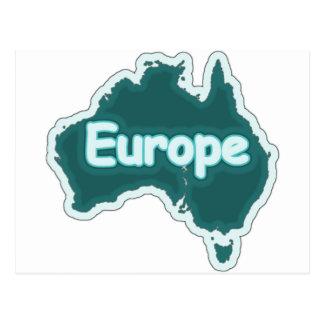 Europe? Stupid Funny Postcard