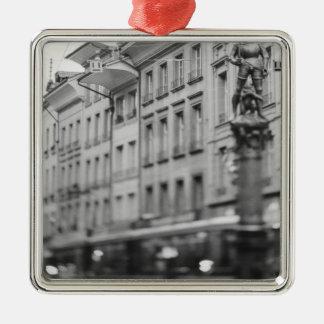 Europe, Switzerland, Bern. Tram, Marktgasse Metal Ornament
