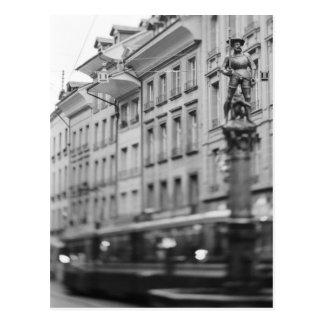 Europe, Switzerland, Bern. Tram, Marktgasse Postcard