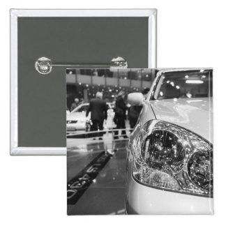 Europe, Switzerland, Geneva. Geneva Motor Show; 2 2 Inch Square Button