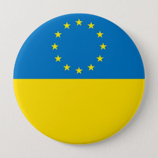 EUROPE UKRAINE 4 INCH ROUND BUTTON