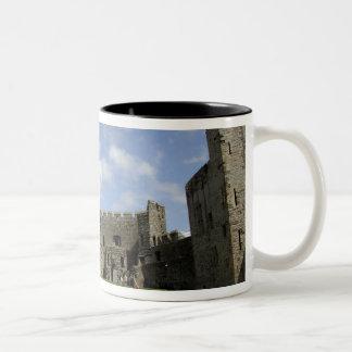 Europe, Wales, Caernarfon. Caernarfon Castle, Two-Tone Coffee Mug