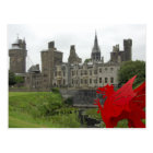 Europe, Wales, Cardiff. Cardiff Castle. Welsh 2 Postcard
