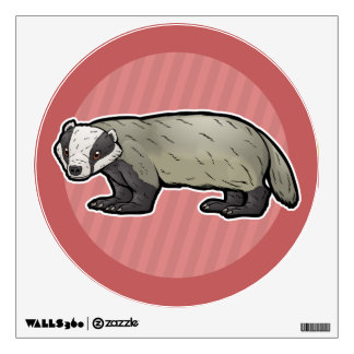 European Badger Wall Sticker