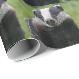 European Badger Wrapping Paper