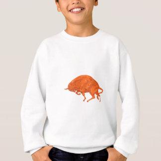 European Bison Charging Drawing Sweatshirt