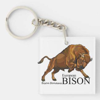 european bison keychain