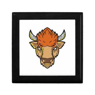 European Bison Mono Line Art Gift Box
