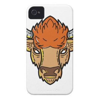 European Bison Mono Line Art iPhone 4 Case