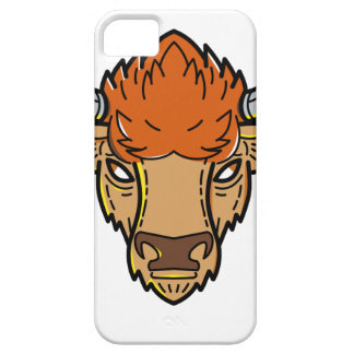 European Bison Mono Line Art iPhone 5 Cover