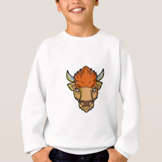 European Bison Mono Line Art Sweatshirt