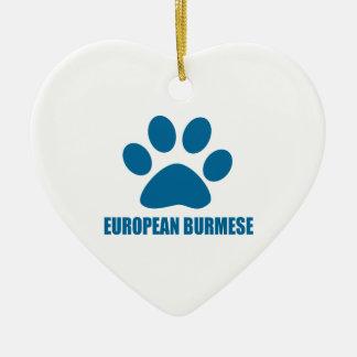 EUROPEAN BURMESE CAT DESIGNS CERAMIC ORNAMENT