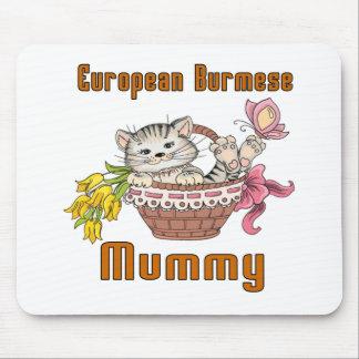 European Burmese Cat Mom Mouse Pad