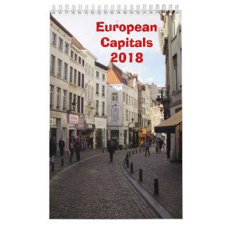 European Capitals - 2018 Calendar