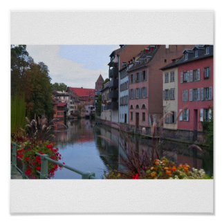 European city Strasbourg Poster