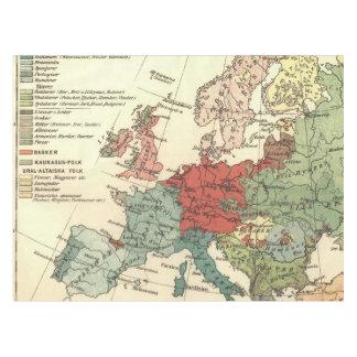 European Continent Map Vintage Tablecloth