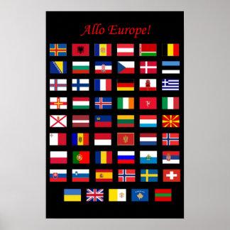 European Countries Flags poster