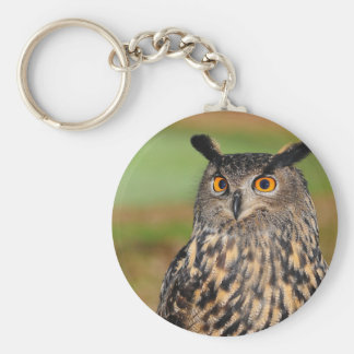 European Eagle Owl Keychain