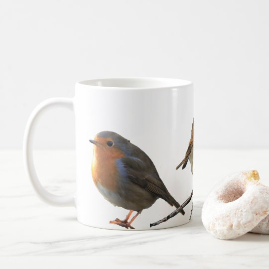 European English Robin birds red breasts Coffee Mug