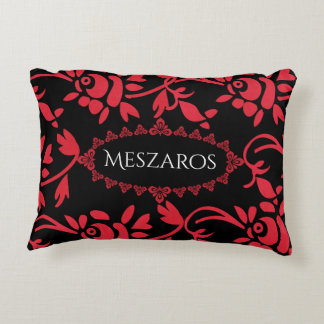 European Flair w/Name Decorative Pillow