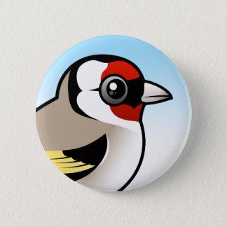 European Goldfinch 2 Inch Round Button