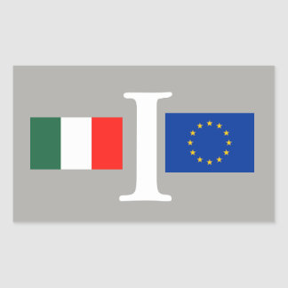 EUROPEAN ITALY ADHESIVE UNION STICKER