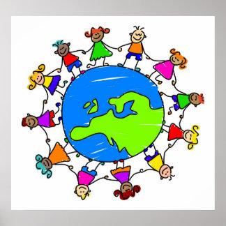 European Kids Poster