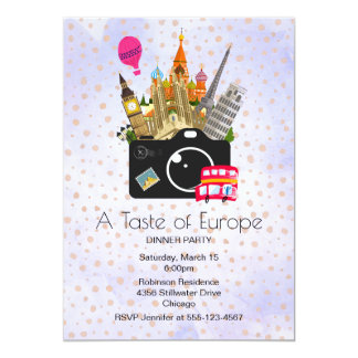 European Landmarks Taste of Europe Party Card