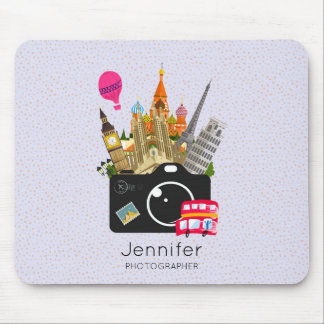 European Landmarks Travel Photographer Mouse Pad