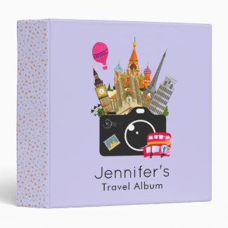 European Landmarks Travel Photographer Vinyl Binders