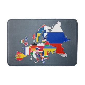 European Map | Country Flags Bath Mat
