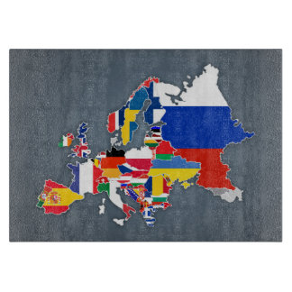 European Map | Country Flags Boards