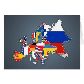 European Map   Country Flags Card