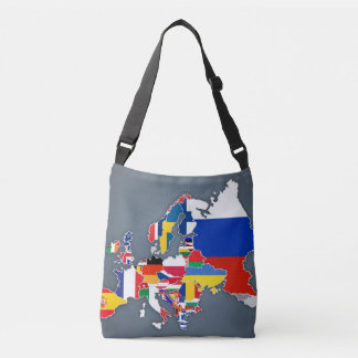 European Map | Country Flags Crossbody Bag