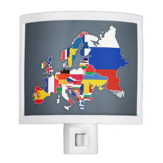 European Map | Country Flags Nite Lites