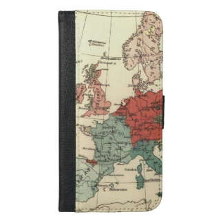 European Map Country Vintage iPhone 6/6s Plus Wallet Case