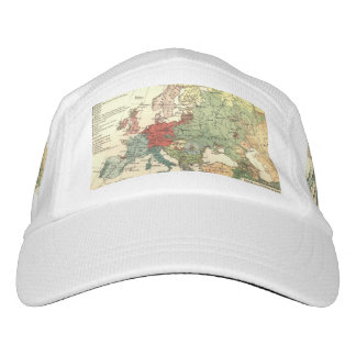 European map vintage travel hat