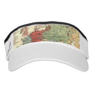European map vintage travel visor