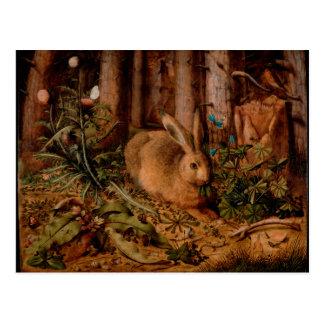 European Painting for Rabbit Year 2023 Postcard
