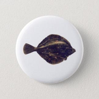 European Plaice 2 Inch Round Button