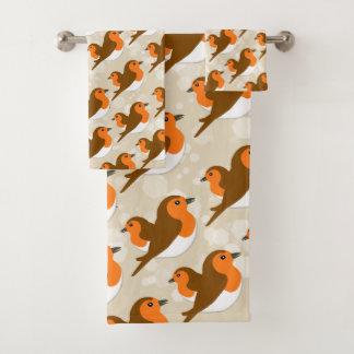 European Robins Bath Towel Set