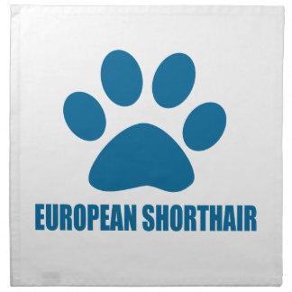 EUROPEAN SHORTHAIR CAT DESIGNS NAPKIN
