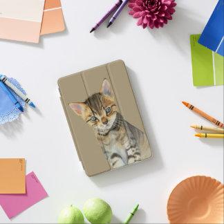 European Shorthair Kitten Watercolor Painting iPad Mini Cover