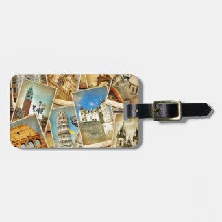 European snapshots luggage tag