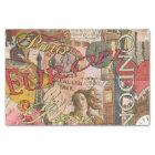 European Travel Vintage London Rome Paris Tissue Paper